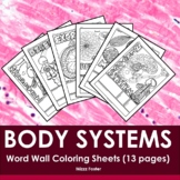 Human Anatomy & Physiology: Body Systems Word Wall Colorin