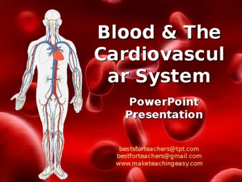 Power point the cardiovascular system anatomy and physiology.