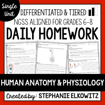 Human anatomy and physiology homework help