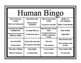 "Human Bingo ""Ice Breaker"" in English and Spanish"