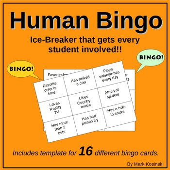 Human Bingo Ice-breaker