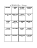 Human Bingo: Likes/Dislikes with -ER verbs
