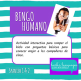 Human Bingo - Spanish 1 or Icebreaker / Bingo Humano - Español 1 o Rompehielos