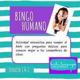Human Bingo - Spanish 1 or Icebreaker / Bingo Humano - Esp