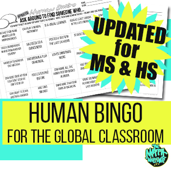 Human Bingo Back to School Activity - Updated for the diverse MS & HS classroom