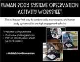 Human Biology Systems Microscope Observation Activity