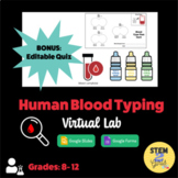 Human Blood Typing Lab - No PREP Virtual Lesson with BONUS