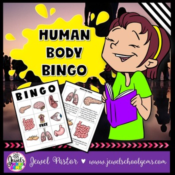 Human Body Activities (Human Body Science Bingo)