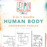 Human Body - 3-in-1 bundle Crossword Puzzle Worksheets for 4th to 6th Graders