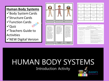 human body systems activity by summer s learning corner tpt
