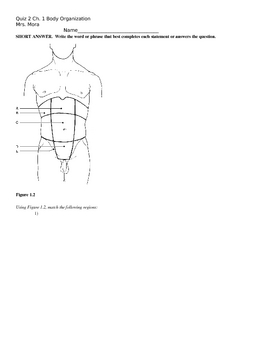 Human Body- An Orientation Quiz 1