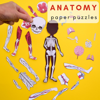 picture about Make a Puzzle From a Picture Printable called Human Human body Anatomy Printable Puzzles