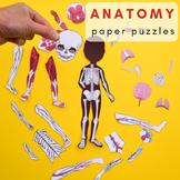 Human Body Anatomy Printable Puzzles
