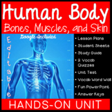 Human Body: Bones, Muscles, and Skin Unit - Distance Learning Included