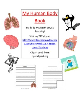 Human Body Book - Writing Booklet