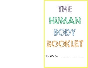 The Human Body Booklet (With Illustration Boxes)