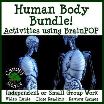 Human Body Bundle! Actvities using BrainPOP