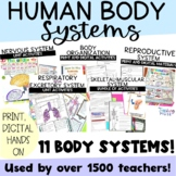 Human Body System Unit of Nonfiction Articles Activity Flip Books and Project