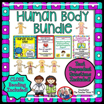 Human Body Bundle with Text Dependent Questions for CLOSE Reading