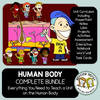 Body Systems - PowerPoint, Handouts, INB, Task Cards, Word Wall