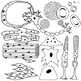 Human Body Cells Clip Art Set