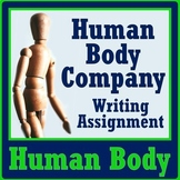Human Body Systems Company Project - Writing Activity to Review NGSS MS-LS1-3