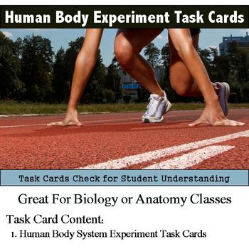 Human Body - Design and Conduct an Experiment Task Cards