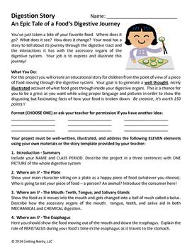 Digestive System - Digestion Story Project
