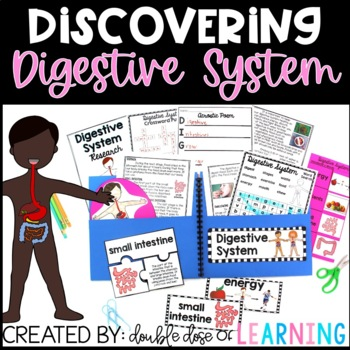 Human Body: Digestive System Research Unit with PowerPoint
