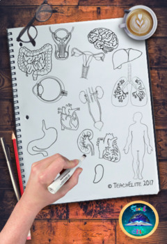 Human Body Doodle Clipart