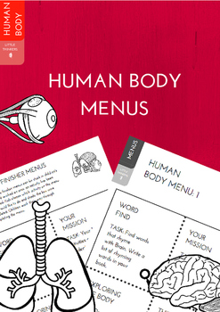 Human Body Early Finisher Menus