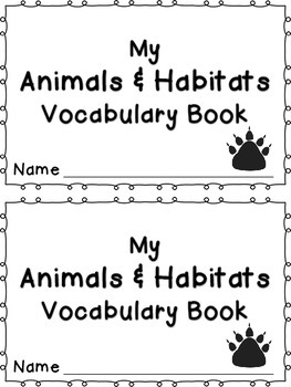 Human Body, Habitats, and Astronomy Modules Vocabulary Books