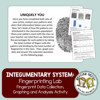 Integumentary System CSI Fingerprinting Lab