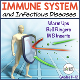 Human Body Interactive Notebooks, Warm Ups: Diseases and t
