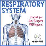 Human Body Interactive Notebooks, Warm Ups: Respiratory System
