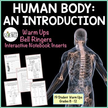 Human Body Introduction Interactive Notebooks, Warm Ups, B