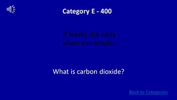 Human Body Jeopardy Game