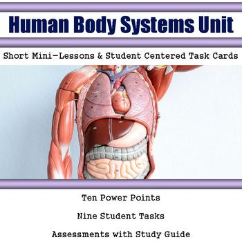 Human Body Lessons with Task Cards