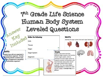 Human Body Leveled Questions
