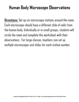 Human Body Microscope Observations