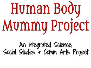 Human Body Mummy Project - Student Presentation Checklist
