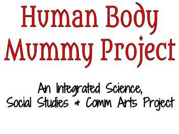 Human Body Mummy Project - Supply List