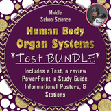 Human Body Organ System Assessment Bundle