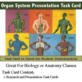 Human Body - Organ System Presentation Task Cards