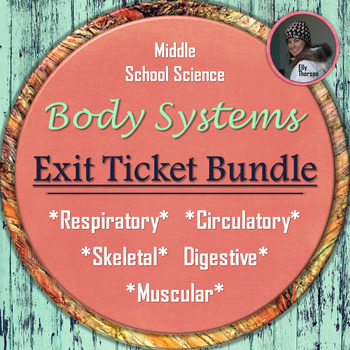 Human Body Organ Systems Exit Ticket PACKAGE