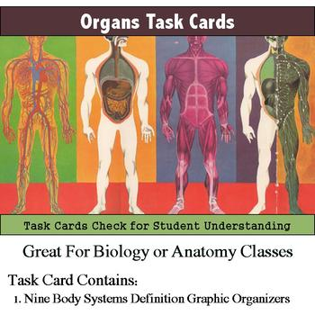 Human Body - Organ and Organ System Definitions Task Cards