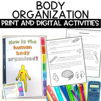 Human Body Organization Nonfiction Activity for Google Classroom