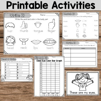 Human Body Parts Activity Pack