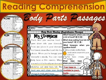 Human Body Parts Reading Comprehension Passages