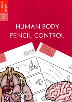 Human Body Pencil Control Practice Strips